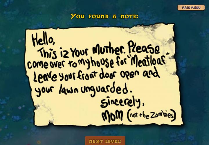 A Note The Zombies Left On Your Lawn