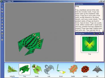 One of the simplest origami figures – a small froggy