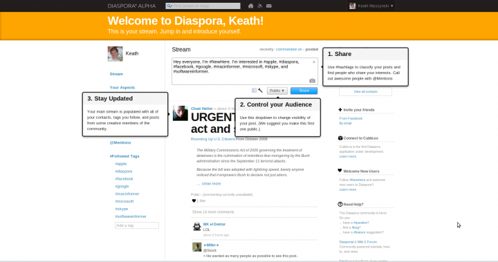 DIASPORA* - The Alternative to Facebook