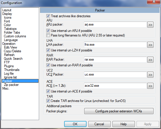 TCs Settings: Archiving Settings