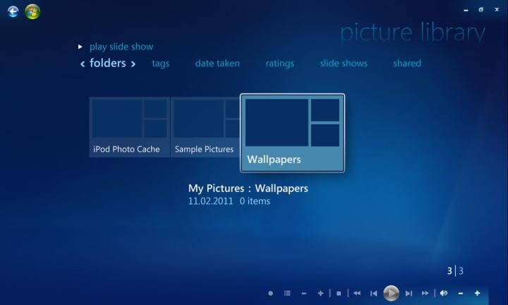 Windows Media Center Picture Library