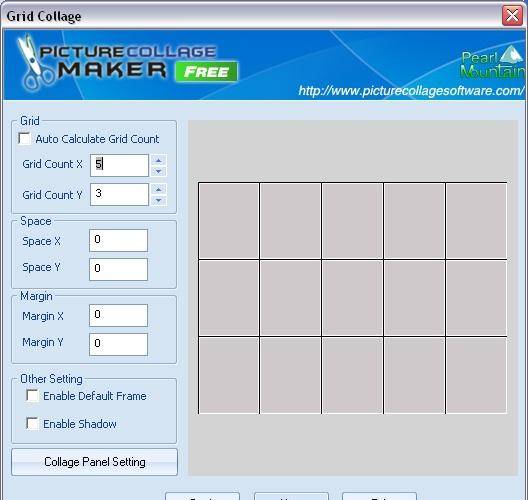 PictureCollageMakerFree main window
