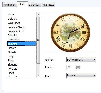 Screesaver Clock