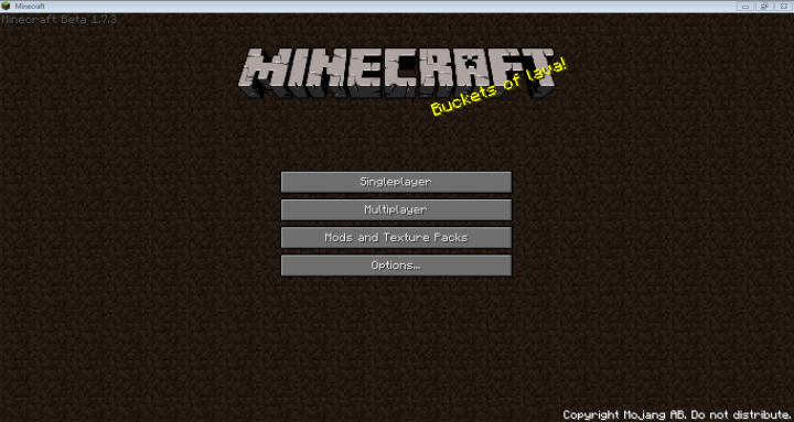 Minecraft Main Menu