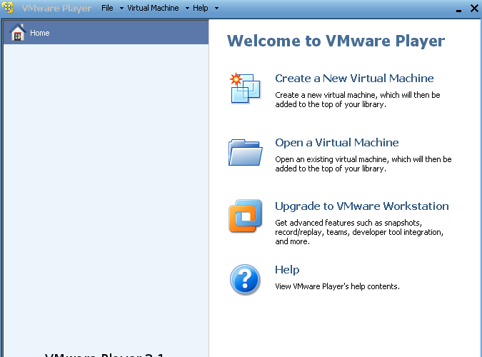 VMware Player 3.1