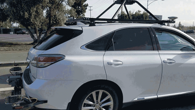 Apple's self-driving car rear