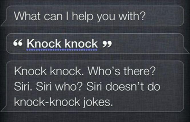 Siri doesn't do