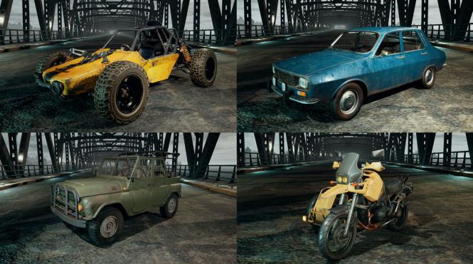 PUBG vehicles