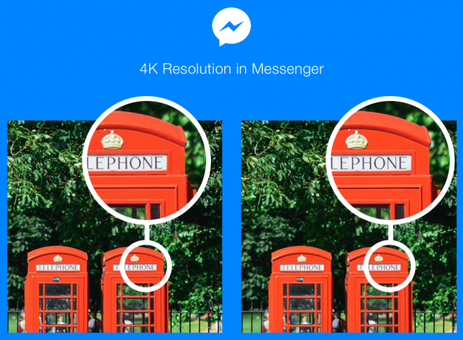 4K resolution on Messenger
