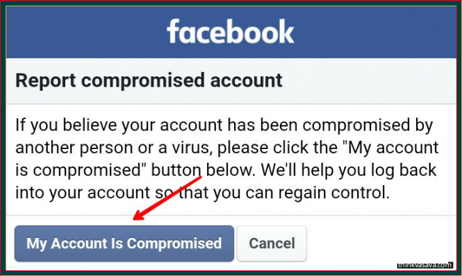 Report account as compromised