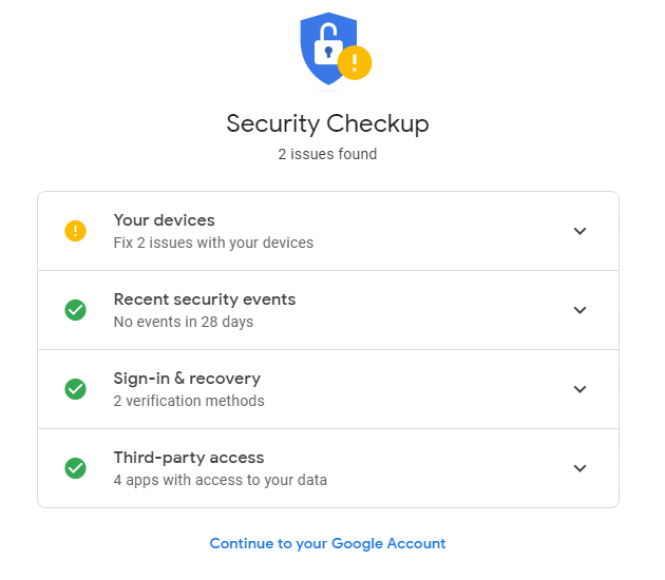 Start your security check