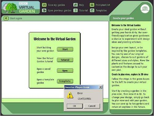 BBC Virtual Garden welcome page