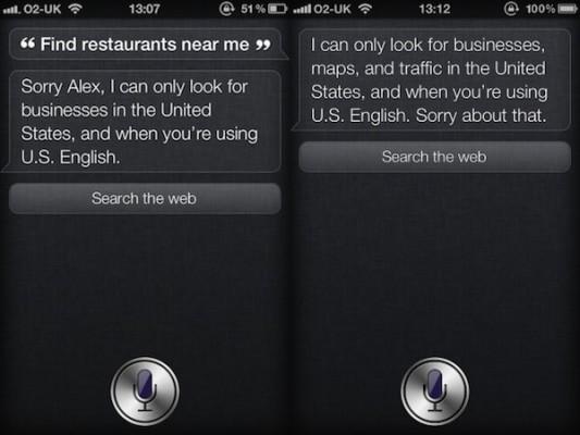 Siri: Half as Functional Outside the U.S. Borders