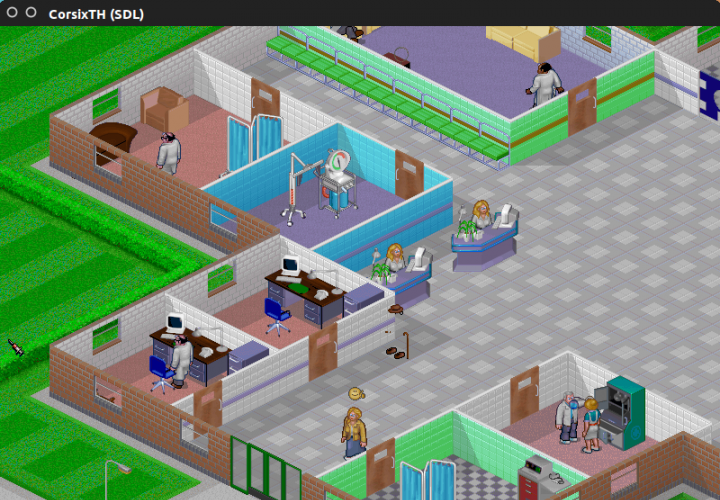 Theme Hospital: The Main Window, Offices, Clinics, and Patients