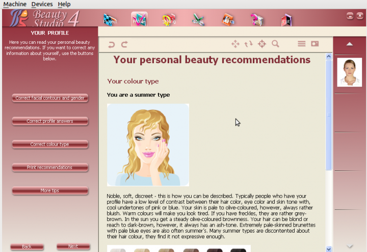 Your personal beauty recommendations