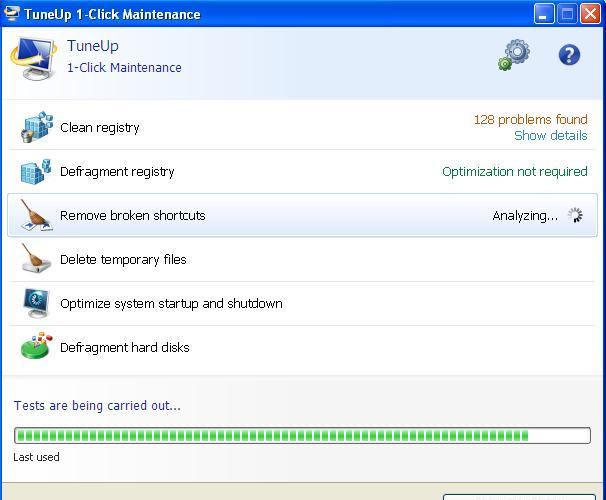 TuneUp Test after CCleaner