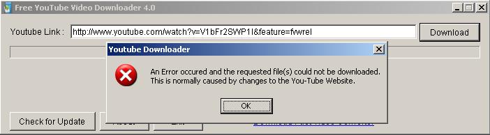Free YouTube Video Downloader version 4.0