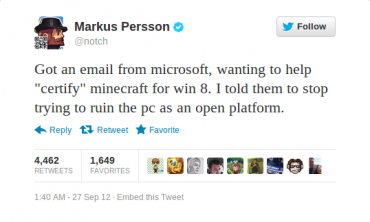 Notch's Reaction to Windows 8