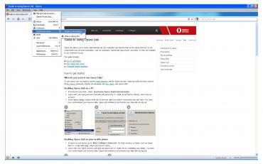 Enabling Opera Link