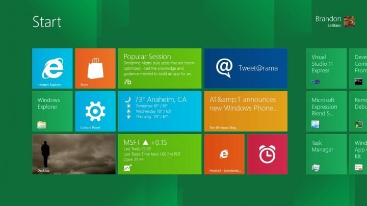 Windows 8. Start Screen