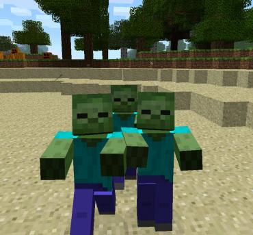 Minecraft: Square Zombie in Search for Square Brains