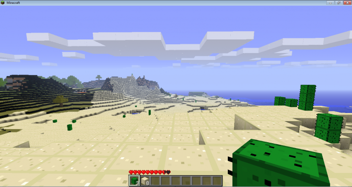 Minecraft Screen Capture №2: the Desert Zone
