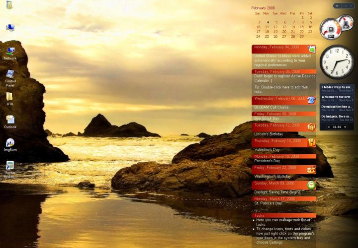 Active Desktop Calendar